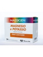 MASSIGEN Magnesio e Potassio Zero Zuccheri 24 bustine